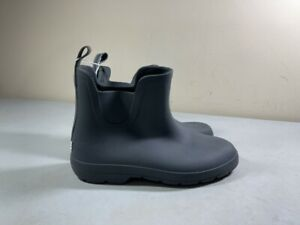 TOTES WOMEN'S GRAY PULL ON RUBBER ANKLE RAIN BOOTS SIZE 9 NWT