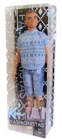 Mattel FNJ38 Barbie Ken in verwaschener Jeans Fashionistas Puppe, Modepuppe, Neu