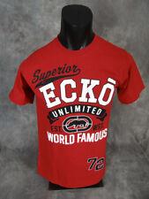 Mens ECKO UNLTD Brand T-Shirt STREET SUPERIOR Raised Prints in Black or White