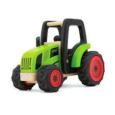 Pintoy 13557 Tractor verde madera (88657) Juguete de Coche ¡NUEVO! #