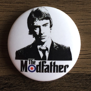 THE JAM The Modfather Paul Weller - Button Badge British Punk Rock Band 25mm Pin