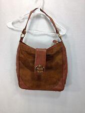 IMAN Purse Pocketbook Bag Purse Handbag Brown 100% Genuine Leather Fur Hair