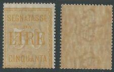 1903 REGNO SEGNATASSE 50 LIRE MH * - Y125