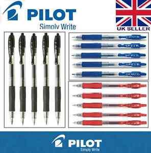 Pilot G2 with 0.5mm line roller gel ink pen X 5 (Black/Blue/Red Ink)