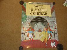 King Ottokar's Sceptre (Le Scepter D'Ottokar) Original Tintin Poster - rare