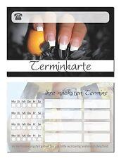 100 x  hochwertige Terminkarten Kosmetik Maniküre Nagelstudio schwarz TOP