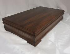 Vintage Long Tarnish Proof Wood Silverware Flatware Wooden Storage Chest Box 15