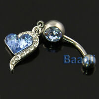JW173 Barbell Belly Bar Ring Button Navel Body Piercing Jewelry Unique Dance YG