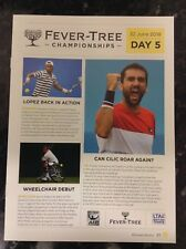 2018 Fever-Tree Championships Daily Programme: Day 5: ATP Tennis