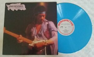 JIMI HENDRIX INTROSPECTIVE RARE BLUE VINYL LP  lint 5006 UK 1991