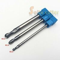 5pc HRC55 2F 4x4x10MM Double Flute End Mill CNC Router Steel Milling Cutter Bit