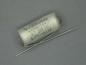 NOS Vintage .47 uF 200v Sprague Vitamin Q 81P Tube Amp Tone Capacitor (4 Avail)
