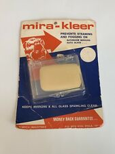 Vintage Nos Mira-Kleer Mirror and Glass Defogger Tempco Industries