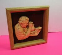 Grandma Praying At Supper Miller Studio Special Moments Framed Picture 1986