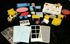 Vintage Lot of 50 Hard Plastic Dollhouse Furniture & Accessory Lot  MIXED LOT