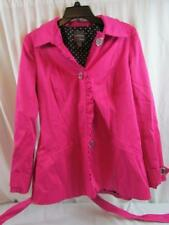 Anthracite by Muse Woman's Hot Pink Jacket Size 8 Polka Dot Lining W/ Belt