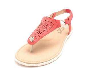 New Women's Sperry Top-Sider Calla Jade Rose Leather Sandals Size 6.5 M