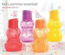 Tupperware eco 350 ml  set of 4 Kids animal character round bottles multicolor