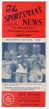 "1965 Brochure: ""The Sportsman's News Of Arkansas"" - Fishing, Maps, Hunting Etc"