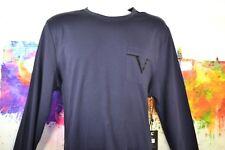 New VERSACE V SHIRT T-SHIRT BLACK FRIDAY ITALIA Long Sleeve Mens Blue Large