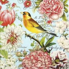 4x Paper Napkins for Decoupage Decopatch - Garden Melody