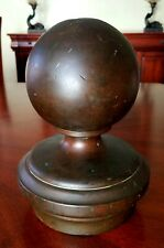 19thC Architectural Salvaged Antique Brass Newel Post Finial