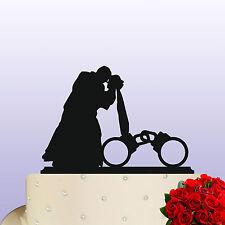POLIZIA di Acrilico/PRIGIONE Warden Tema Sposa E Sposo Wedding Cake Topper Decorazione