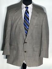 Brooks Brothers Pure 100% Wool 2pc Gray Suit 2 Button Jacket and Pants Size 45R