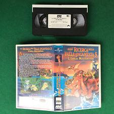 VHS - ALLA RICERCA DELLA VALLE INCANTATA 5 L'ISOLA MISTERIOSA (ITA 1997) no dvd