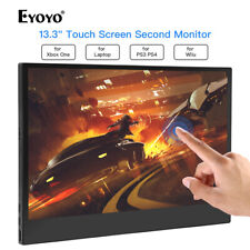 """Eyoyo 13.3"""" Inch 1920*1080 10 Point Touch Screen Monitor for PS3 PS4 Xbox 360"""
