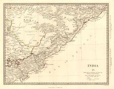 India.bundelkhand To Khandeish Berar.gujerat Asia Maps Goondwana Bhopal Sduk 1844 Map Art Prints