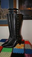 Andrea BOOTS 6 HIGH HEEL BOOTS SIZE 6 BLACK LEATHER BOOTS 6 ANDREA COLLECTION 6