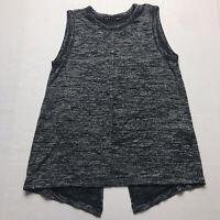 Rag & Bone Gray Sleeveless Split Back Knit Top Size XXS a89