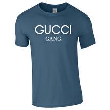 Lil Pump GUCCI GANG Tshirt Tee Top Unisex Music Rap Hip Hop Clothing Gold White