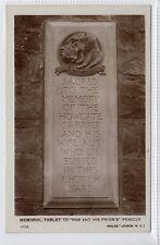 """MEMORIAL TABLET TO """"RAB AND HIS FRIEN'S"""", PENICUIK: Midlothian postcard (C16622)"""