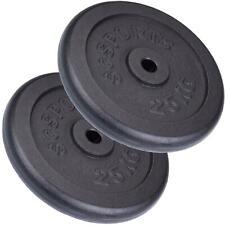 ScSPORTS® 50 kg Hantelscheiben Set Gusseisen 2 x 25 kg Hantel Gewichte 30 mm
