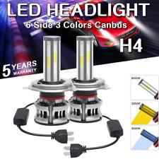 H4 9003 HB2 90W 6side CANBUS LED Headlight Kit Light Bulbs 3000K 6000K 8000K
