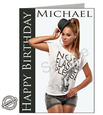 Beyonce Birthday Card (A5) Personalised - PGS2050GC - FREE UK POSTAGE