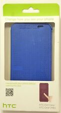 HTC Dot View Case for HTC One (M8) - Blue, Retail