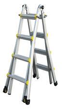 INDALEX Pro Series Aluminium Telescopic Ladder 15ft 1.3m - 4.2m