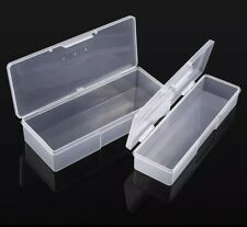 Container Nail Tools Transparent Plastic Storage Box Brush Holder Case (U PICK)