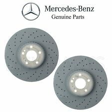 For Mercedes X253 GLC43 W205 C450 W213 Pair Set of 2 Front Disc Brake Rotors OE