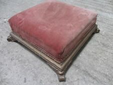 19th Century Square gilt and upholstered footstool (ref 072)