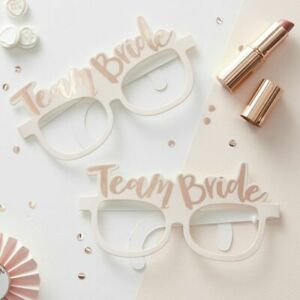 NEW Ginger Ray Pink and Rose Gold Team Bride Hen Party Glasses - 8 per pack