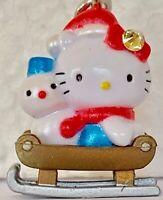 ❤️Sanrio Hello Kitty & Snowman 2005 Gotochi ~ Netsuke Charm Mascot Phone Strap❤️