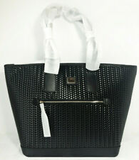 Dooney & Bourke Camden Woven Black Leather Large Tote NWT w/dustbag