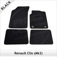 Renault Clio Mk2 1998-2005 Tailored Carpet Car Floor Mats BLACK