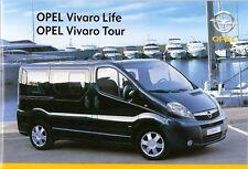 Prospectus/Brochure OPEL Vivaro Life et Tour 01/2007