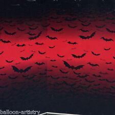 Vampire Bite Blood Halloween Party Scene Setter Room Roll - RED SKY BATS