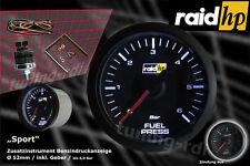 Raid hp Sport Benzindruck Anzeige Zusatzinstrument 52mm + Adapter /Schwarz / LED